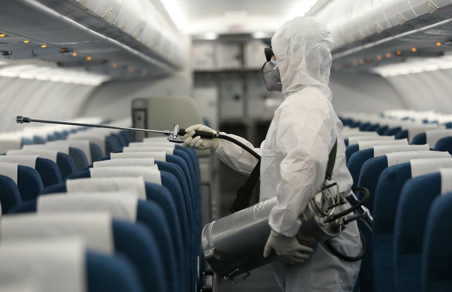 aircraft cabin disinfection procedures